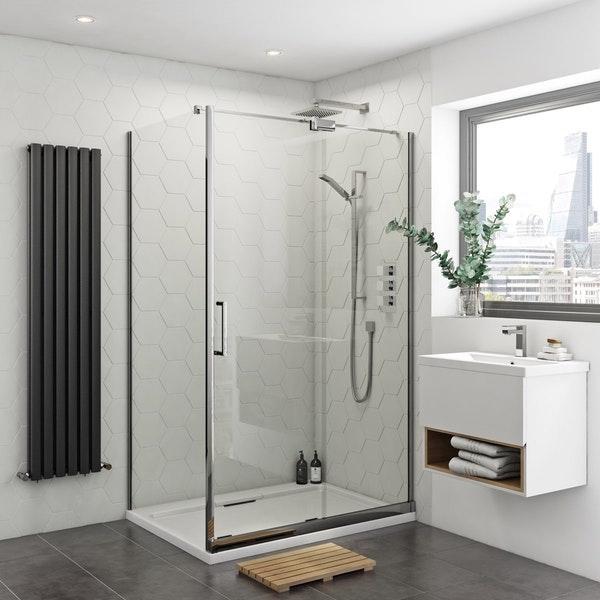 Mode Ellis frameless sliding shower enclosure